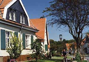 In unmittelbarer Nähe zur Zeche Teutoburgia entstand zwischen 1909 und 1923 das Quartier für die Arbeiter und Beamten Foto: Bildarchiv, Stadt Herne