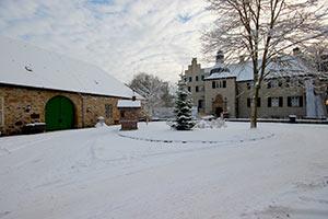 Wasserschloss Haus Dellwig im Schnee, Foto: Uwe Kolter