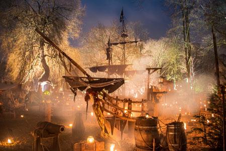 Mittelalterlicher Weihnachtsmarkt.Mittelalterlicher Lichter Weihnachtsmarkt Dortmund 2017
